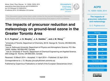 The Impacts of Precursor Reduction and M... by Pugliese, S. C.