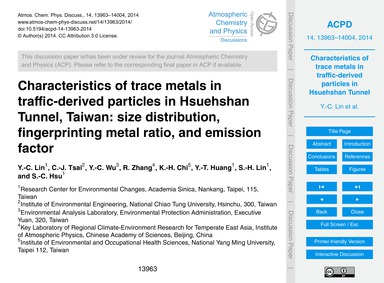 Characteristics of Trace Metals in Traff... by Lin, Y.-c.