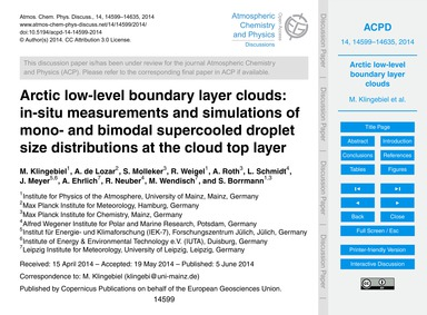 Arctic Low-level Boundary Layer Clouds: ... by Klingebiel, M.