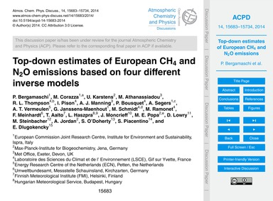 Top-down Estimates of European Ch4 and N... by Bergamaschi, P.