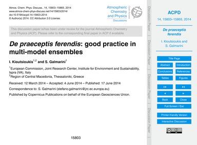 De Praeceptis Ferendis: Good Practice in... by Kioutsioukis, I.