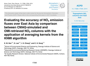 Evaluating the Accuracy of NoX Emission ... by Han, K. M.