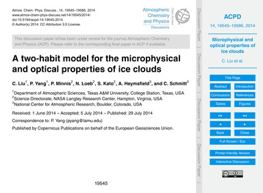 A Two-habit Model for the Microphysical ... by Liu, C.