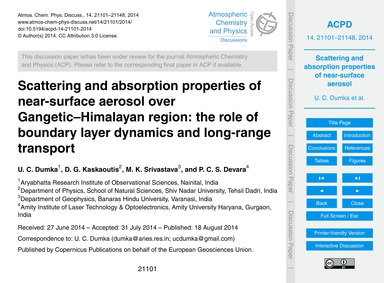 Scattering and Absorption Properties of ... by Dumka, U. C.