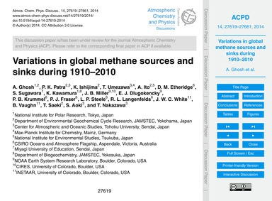 Variations in Global Methane Sources and... by Ghosh, A.
