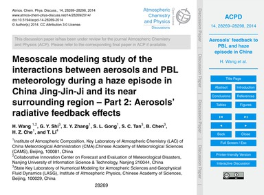 Mesoscale Modeling Study of the Interact... by Wang, H.