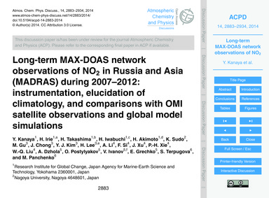Long-term Max-doas Network Observations ... by Kanaya, Y.