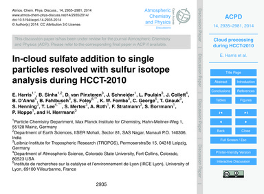 In-cloud Sulfate Addition to Single Part... by Harris, E.