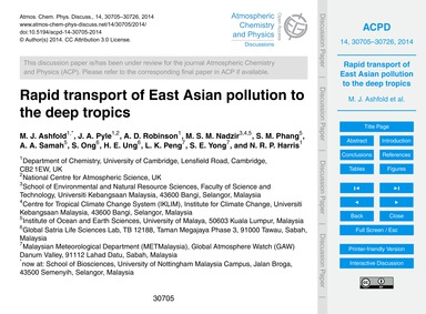 Rapid Transport of East Asian Pollution ... by Ashfold, M. J.