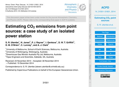 Estimating Co2 Emissions from Point Sour... by Utembe, S. R.