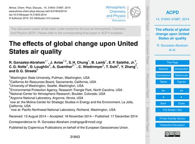 The Effects of Global Change Upon United... by Gonzalez-abraham, R.