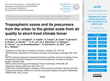 Tropospheric Ozone and Its Precursors fr... by Monks, P. S.