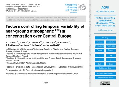 Factors Controlling Temporal Variability... by Zimnoch, M.