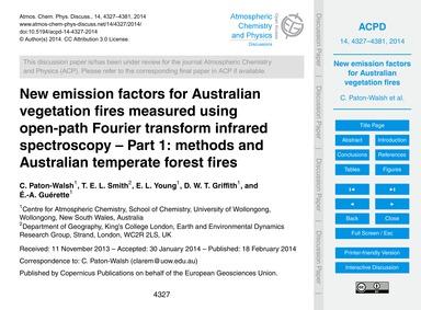 New Emission Factors for Australian Vege... by Paton-walsh, C.