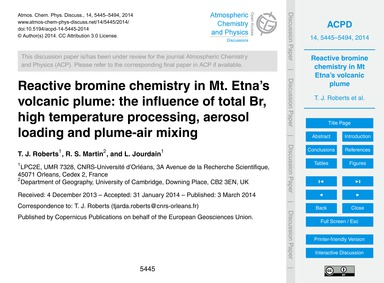 Reactive Bromine Chemistry in Mt. Etna's... by Roberts, T. J.