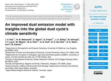 An Improved Dust Emission Model with Ins... by Kok, J. F.