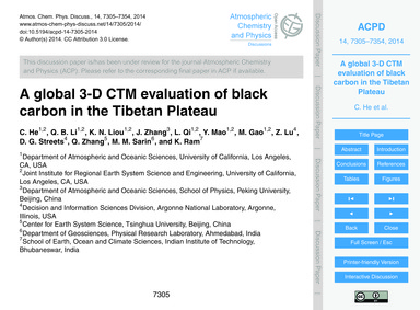 A Global 3-d Ctm Evaluation of Black Car... by He, C.