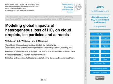 Modeling Global Impacts of Heterogeneous... by Huijnen, V.