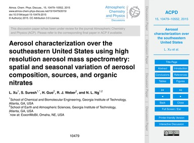 Aerosol Characterization Over the Southe... by Xu, L.