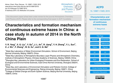 Characteristics and Formation Mechanism ... by Yang, Y. R.