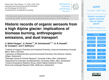 Historic Records of Organic Aerosols fro... by Müller-tautges, C.