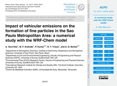 Impact of Vehicular Emissions on the For... by Vara-vela, A.