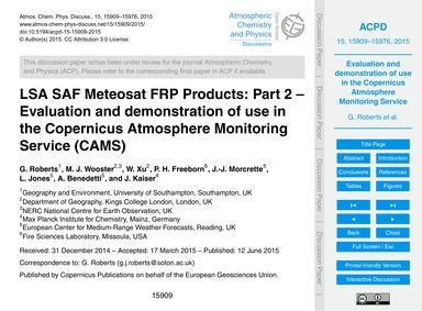 Lsa Saf Meteosat Frp Products: Part 2 – ... by Roberts, G.
