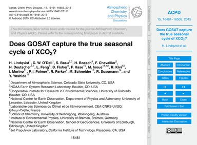 Does Gosat Capture the True Seasonal Cyc... by Lindqvist, H.
