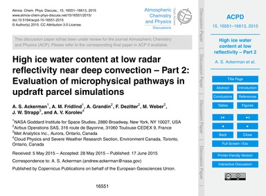 High Ice Water Content at Low Radar Refl... by Ackerman, A. S.
