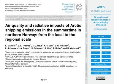 Air Quality and Radiative Impacts of Arc... by Marelle, L.