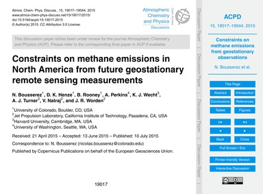Constraints on Methane Emissions in Nort... by Bousserez, N.