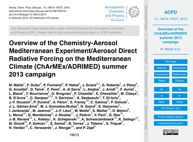 Overview of the Chemistry-aerosol Medite... by Mallet, M.