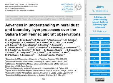Advances in Understanding Mineral Dust a... by Ryder, C. L.