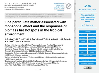 Fine Particulate Matter Associated with ... by Khan, M. F.