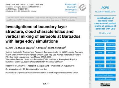 Investigations of Boundary Layer Structu... by Jähn, M.
