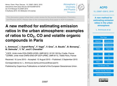 A New Method for Estimating Emission Rat... by Ammoura, L.