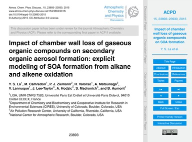 Impact of Chamber Wall Loss of Gaseous O... by La, Y. S.