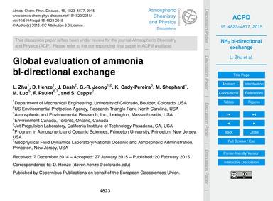 Global Evaluation of Ammonia Bi-directio... by Zhu, L.