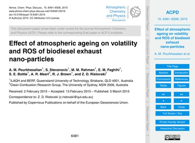 Effect of Atmospheric Ageing on Volatili... by Pourkhesalian, A. M.