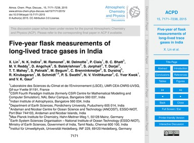 Five-year Flask Measurements of Long-liv... by Lin, X.