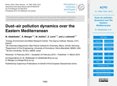 Dust–air Pollution Dynamics Over the Eas... by Abdelkader, M.