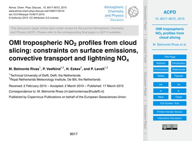 Omi Tropospheric No2 Profiles from Cloud... by Belmonte Rivas, M.