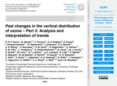 Past Changes in the Vertical Distributio... by Harris, N. R. P.