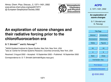 An Exploration of Ozone Changes and Thei... by Shindell, D. T.