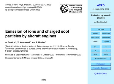 Emission of Ions and Charged Soot Partic... by Sorokin, A.