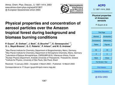 Physical Properties and Concentration of... by Guyon, P.