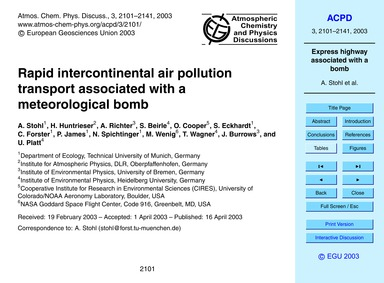 Rapid Intercontinental Air Pollution Tra... by Stohl, A.