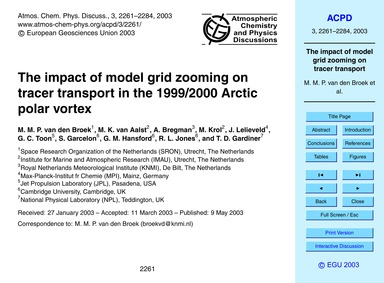 The Impact of Model Grid Zooming on Trac... by Van Den Broek, M. M. P.