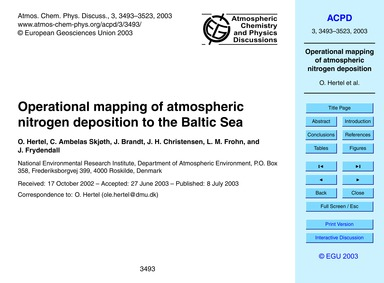 Operational Mapping of Atmospheric Nitro... by Hertel, O.