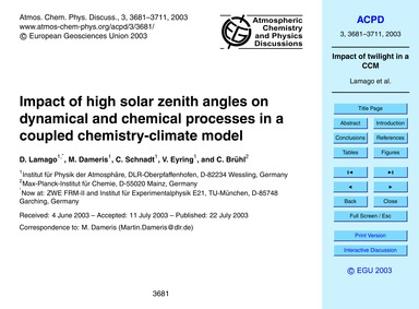 Impact of High Solar Zenith Angles on Dy... by Lamago, D.